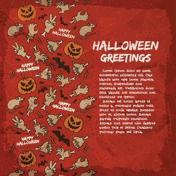 Card With Halloween Greetings