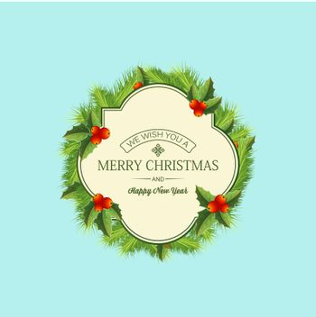 Christmas Coniferous Wreath Template