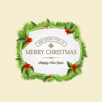 Christmas Coniferous Wreath Concept