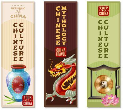 China Travel Vertical Banner Set
