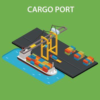 Cargo port isometric
