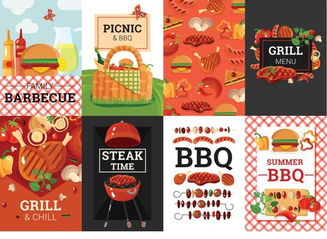 BBQ Barbecue Picnic Banners Set