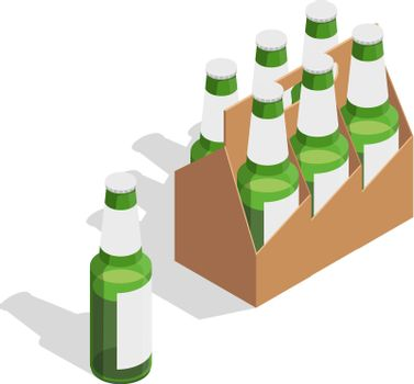 Beer Pack Isometric Composition