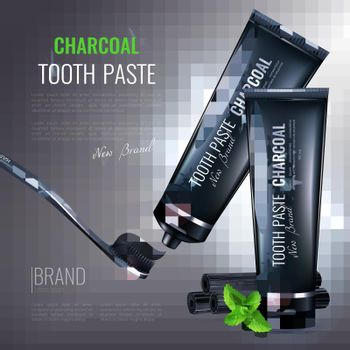 Charcoal Tooth Paste Poster