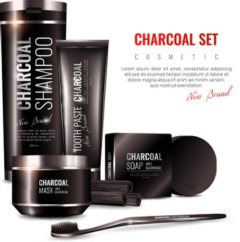 Charcoal Cosmetics 3D Illustration