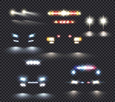 Car Lights Transparent Set