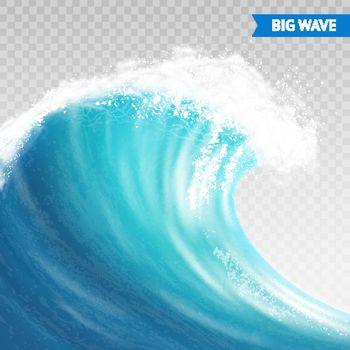 Big Wave On Transparent Background