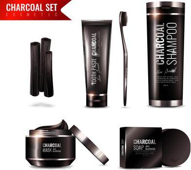 Charcoal Cosmetics Set