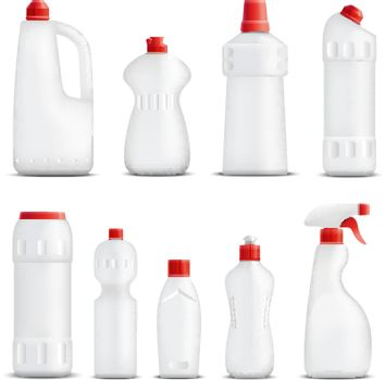 Cleaning Product Bottles Collection