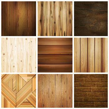 Wooden Floor Tile Set