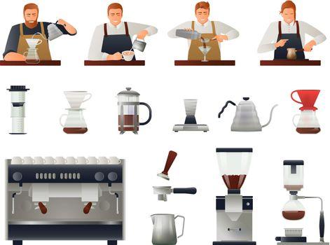 Barista And Coffee Set