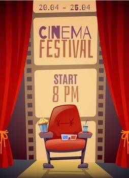 Cinema Festival Vertical Poster