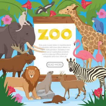 Zoo Cartoon Poster