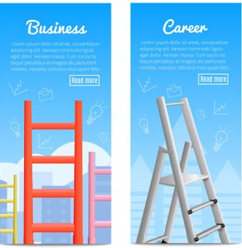 Career Ladders Realistic  Banners