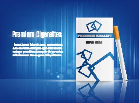 Cigarettes Advertisement Realistic Composition
