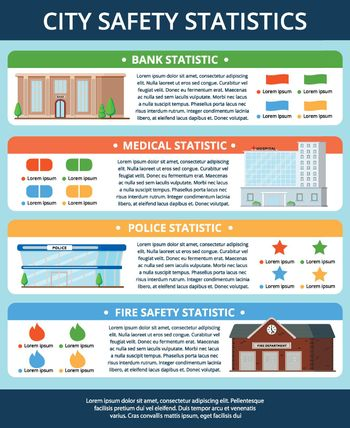 City Buildings Infographic Poster