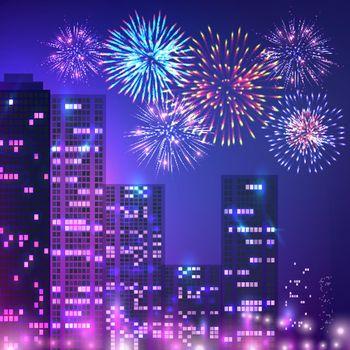 Big City Fireworks Composition
