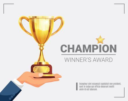Winner Award Champion Trophy Poster