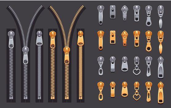 Zipper Realistic Set