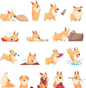 Cartoon Cute Puppy Set