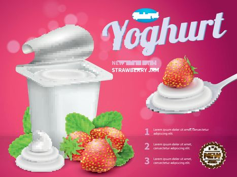 Yoghurt Package Advertising Composition