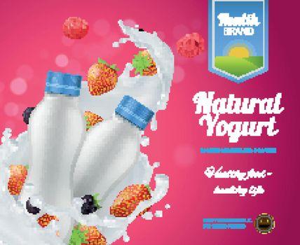 Berry Yogurt Advertising Composition