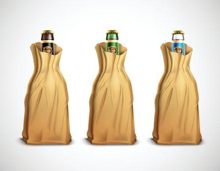 Beer Bottles In Paper Bags