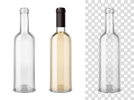 Wine Blass Bottles Set