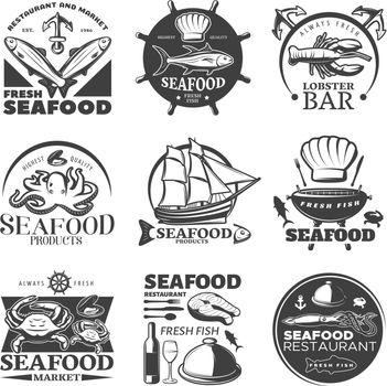 Seafood Emblem Set