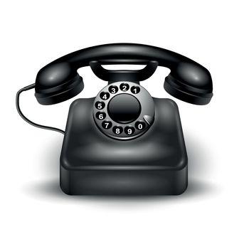 Realistic Retro Telephone