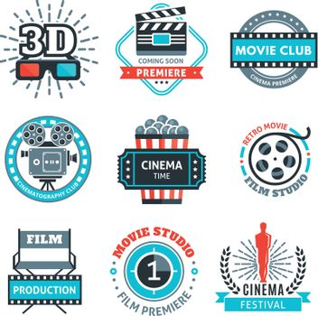 Cinema Colorful Emblems