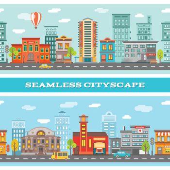 City Buildings Horizontal Banners