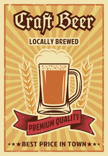 Beer Colored Poster
