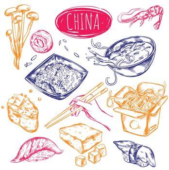 China Food Sketch Set