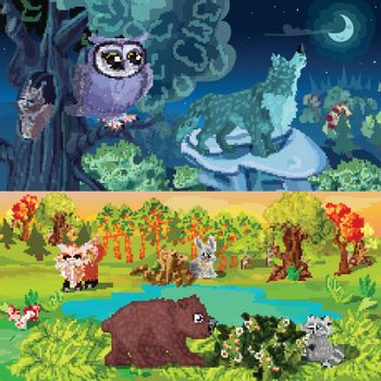 Woodland Animals Horizontal Banners