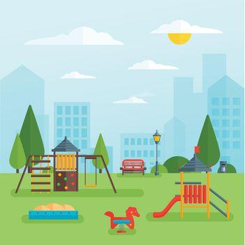Childrens Playground At Park