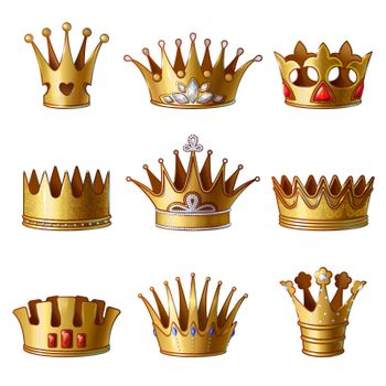 Cartoon Royal Gold Crowns Collection