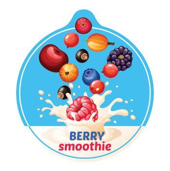 Cartoon Berry Smoothie Sticker