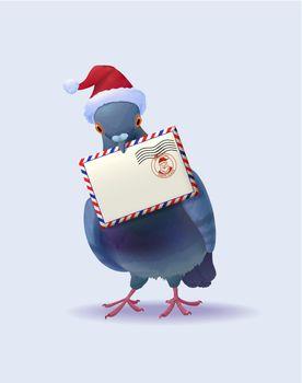 Christmas Santa Claus Post Pigeon