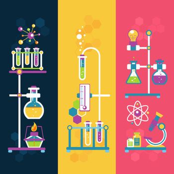 Chemistry design banners