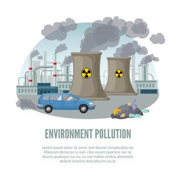 Cartoon Environmental Pollution Template