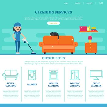Cleaning Company Web Page Template