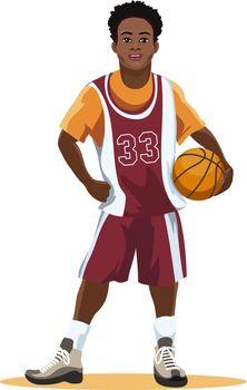 Basketball player in uniform