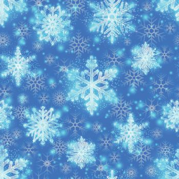 Christmas glitter background with snowflakes