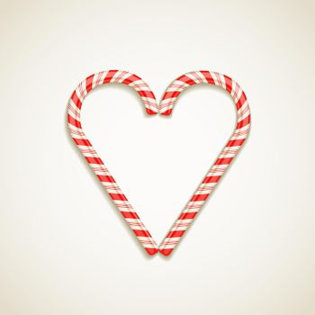 candy canes shape of heart