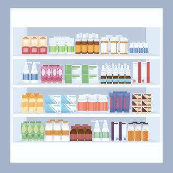 Cartoon Medicine in Pharmacy