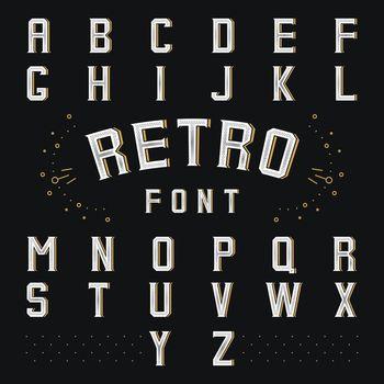 Chicago retro alphabet