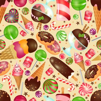 Candy and sweets background