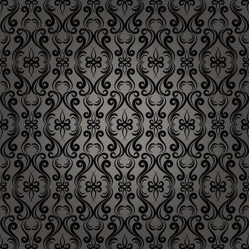 Damask Baroque Seamless Pattern Background