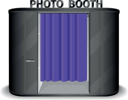 Black photo booth vending machine. Vector illustration